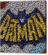 Batman Bottle Cap Mosaic Canvas Print