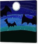 Bats At Night Canvas Print
