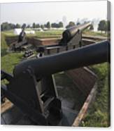Battery Of Cannons At Fort Mchenry Canvas Print