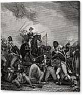 Battle At Princeton New Jersey Usa 1775 Canvas Print