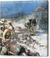 Battle At Roberts Ridge Canvas Print