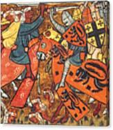 Battle Between Crusaders And Muslims Canvas Print