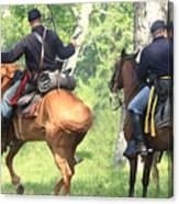 Battle By Horseback Canvas Print