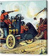 Battle Cars, 1900s French Postcard Canvas Print