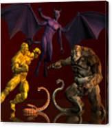 Battle Of Good Vs Evil Canvas Print
