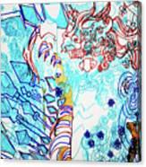 Battle For Heaven Ggulu Summons Kaikuzzi To Defeat Walumbe Canvas Print