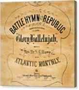 Battle Hymn Of The Republic Canvas Print