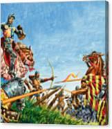 Battle Of Agincourt Canvas Print
