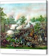Battle Of Atlanta Canvas Print