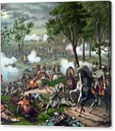 Battle Of Chancellorsville - Death Of Stonewall Canvas Print