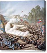 Battle Of Corinth, 1862 Canvas Print