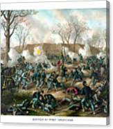 Battle Of Fort Donelson Canvas Print