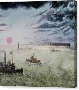 Battle Of Fort Pulaski Canvas Print