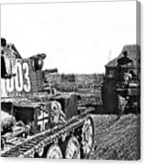 Battle Of Stalingrad Nazi Tanks Canvas Print