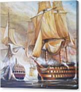 Battle Of Trafalger Canvas Print