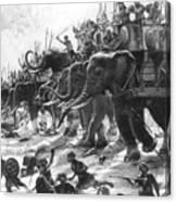 Battle Of Zama, Hannibals Defeat Canvas Print