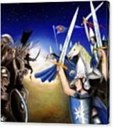 Battle Under The Stars Canvas Print