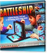 Battleship Board Game Painting  Canvas Print