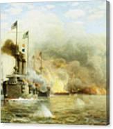 Battleships At War Canvas Print