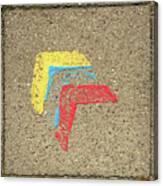 Bauhaus Symbol Paving Stone Canvas Print