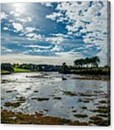 Bay At Low Tide In Clonakilty In Ireland Canvas Print