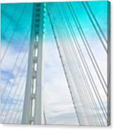 Bay #bridge Section. Love The Aqua Tint Canvas Print