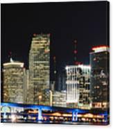 Bay Front Miami Skyline Canvas Print