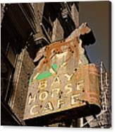 Bay Horse Cafe Sign Canvas Print