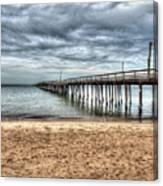 Bay Side Lynnhaven Fishing Pier Canvas Print