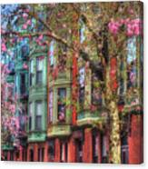 Bay Village Row Houses - Boston Canvas Print
