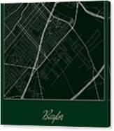 Baylor Street Map - Baylor University Waco Map Canvas Print