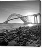 Bayonne Bridge Black And White Canvas Print