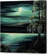 Bayou By Moonlight Canvas Print