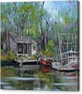 Bayou Shrimper Canvas Print