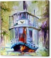 Bayou Taxi Waterscape Canvas Print