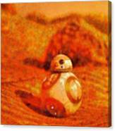 Bb-8 In The Desert - Pa Canvas Print