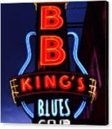 B B King's Blues Club Canvas Print