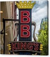 Bb King's Blues Club - Honky Tonk Row Canvas Print