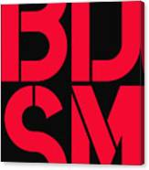 Bdsm Black And Red Canvas Print