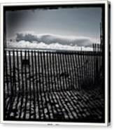 Beach And Fence Canvas Print