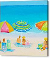 Beach Art - Crazy Lazy Summer Days Canvas Print