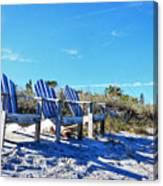 Beach Art - Waiting For Friends - Sharon Cummings Canvas Print