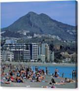 Beach At Barcelona In Spain Canvas Print