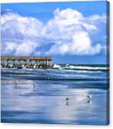 Beach At Isle Of Palms Canvas Print
