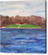 Beach At Lake Macbride Canvas Print