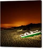 Beach At Night Canvas Print