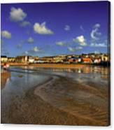 Beach At Perranporth Canvas Print