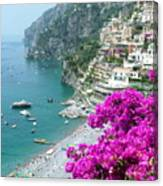 Beach At Positano Canvas Print