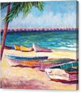 Beach At Progreso Canvas Print