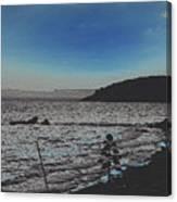 Beach At Twilight Canvas Print